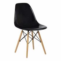 Cadeira Eiffel Charles Eames Acrílica Sólida Pc Base Madeira