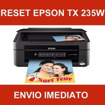 Reset Epson Tx 235w - Almofadas - Vida Útil - Gota