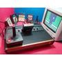 Atari 2600 Frente De Madeira, 5 Jogos,2 Controle