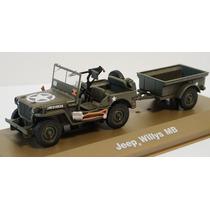 1/43 Jeep Willys Mb Carretinha Militar Atlas Ixo Altaya