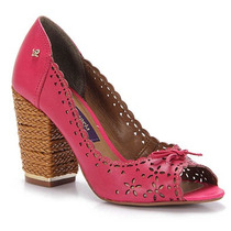 Peep Toe Salto Feminino Cravo & Canela - Pink