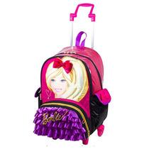 Mochila De Rodinhas Barbie G 16z Com Bolsinha - 64121