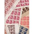 1957 - 08 Folhas De Selos Com Goma - Rhm Mais De R$1000,00