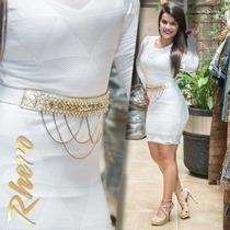 Vestido Rhero Branco Manga Longa Oferta