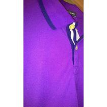 Camisa Pólo Masculina Manga Curta Roxa Empório Colombo