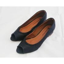Sapato Peep Toe Salto Bonito Conforto Para Seus Pés