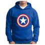 Moletom Capitão America Escudo Blusa Super Heroi Cap America