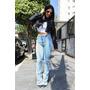 Calça Jeans Feminina Cintura Alta Lady Rock