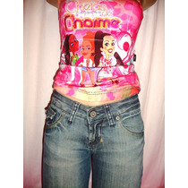 Calça Capri Jeans Feminina C/strech Número 36 + Blusinha A-3