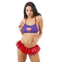 Fantasia Feminina Super Girl Pimenta Sexy - Frete Barato !!!