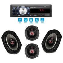 Kit Alto Falante Ford Ka 97 98 99 00 01 + Auto Radio Mp3 Usb
