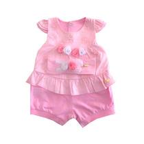 Macacão Feminino Rosa Bebe Infantil Com Tiara Tamanho M