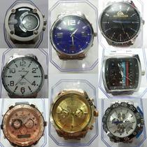 Kit Com 04 Relógios Masculinos, Várias Marcas Disponíveis