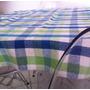 Forro De Mesa Xadrez 90cmx90cm 85% Algodão Artesanato Manual