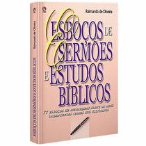 Livro Esboços De Sermões E Estudos Bíblicos,novo Cpad 384 Pg