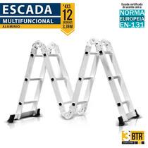 Escada Articulada Multifuncional 8 Em 1 Alumínio Até 150 Kg