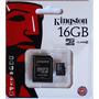 Micro Sd Kingston 16g, Cartão De Memoria