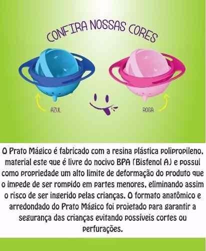 Prato Magico Infantil - O Original - Cores Rosa - Azul