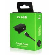 Bateria E Cabo Carregador Controle Xbox One Charge Play Kit