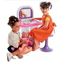 Salão De Beleza Infantil Bell Toy C/ Banco Maquiagem Bonecas
