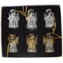 produto Kit Com 6 Enfeite De Vidro Anjo Para Arvore De Natal Id852