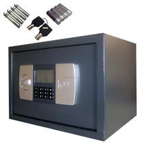 Cofre Eletronico Digital Grande 27x25x32cm Lcd Chave Parede