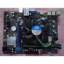 Kit Placa Mãe Msi H61m-e22/w8 + Dual Core G470 + 2gb Memória