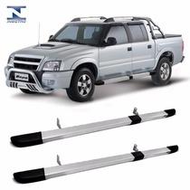 Estribo Quadrado Cabine Dupla Prata Chevrolet S10 Bepo