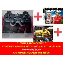Controle Original Mex (joystick Ps2 + Bomba Patch + Pes 2016