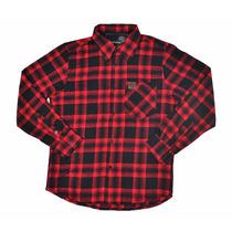 Camisa Xadrez Lenhador Flanelada Casual Moderna Algodão Cool