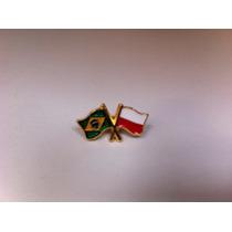 Pins Da Bandeira Do Brasil X Polônia