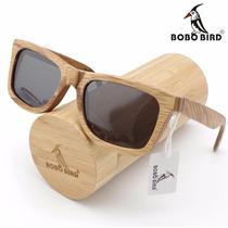 Óculos De Sol Em Madeira / Bambu Bobo Bird Unissex
