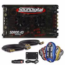 Modulo Soundigital Sd 800 Evo Digital + Controle Stetsom Sx2
