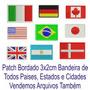 Patch Tag Bordado Mini Bandeiras Todos Estados 3x2cm