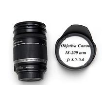 Objetiva Canon 18-200 Mm - Pouco Uso - Perfeita
