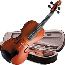 Violino 4/4 Vogga Von144 Crina Animal Breu Estojo Barato