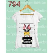 Tshirt Camiseta Feminina Margarida Donald Swag Presa Disney