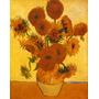 Girassol Flores Flor Reprodução De Vincent Van Gogh Na Tela