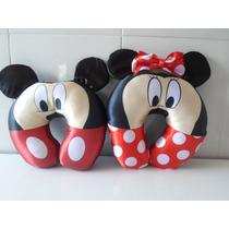 Ki 2 Travesseiros De Pescoço Da Minnie Mickey Importado