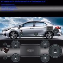 Kit Som Hi End - Conversor Sli4 + Kit 2vias Hertz Dsk + Hcp4