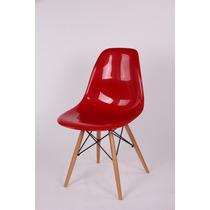 Cadeira Charles Acabamento Brilhante Abs - Pes Em Cavilha
