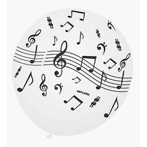 Balão Art-latex Nº9 Notas Musicais - Bexiga Festa Balada 25u
