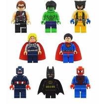 8 Vingadores Marvel Heroes Avengers Lego + Removedor D Peças