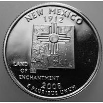 Estados Unidos - 25 Cents 2008 New Mexico Letra D (fc)