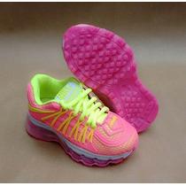Nike Air Max 2015 Infantil Pra Criança Rosa Bb + Frete Grati