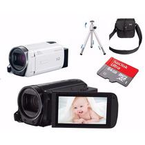 Filmadora Canon Vixia Hf R700 Entr Mic R700+64gb+bolsa+tripé