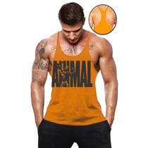 Camiseta Regata Universal Academia Musculação Super Cavada