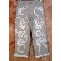 Calça Jeans Lycra 44 Octopussy Customizada Lovely Lolla