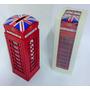 Cabine Telefone De Londres Cofre Retrô Metal Miniatura 17cm