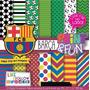 17 Itens Kit Digital Editavel Scrapbook Futebol Barça Arte